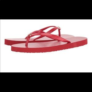 6f2795066a9c Shoes - Tory Burch thin flip-flops brilliant red 8